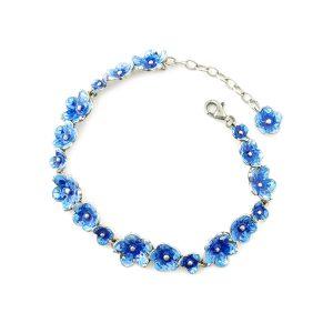bracciale fiorellini azzurri