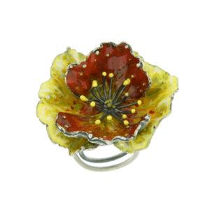 anello papavero giallo e arancio (2)