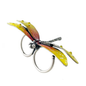 anello-due-dita-libellula-gialla