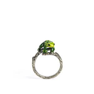 anello-rametto-rana-verde
